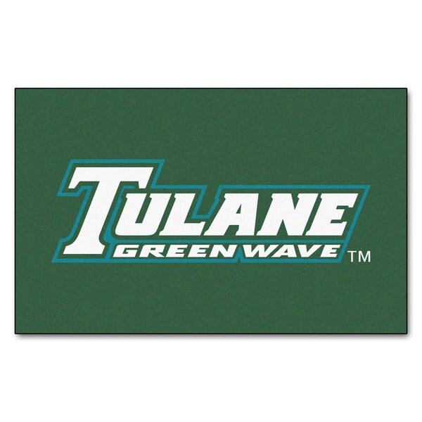 Fanmats Machine-Made Tulane University Green Nylon Ulti-Mat (5' x 8')