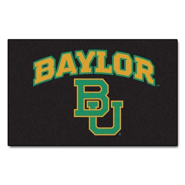 Fanmats Machine-Made Baylor University Black Nylon Ulti-Mat (5' x 8')