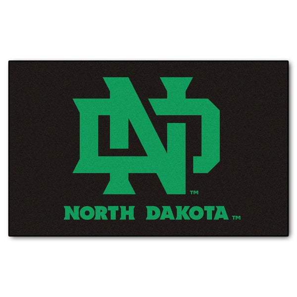 Fanmats Machine-Made University of North Dakota Black Nylon Ulti-Mat (5' x 8')