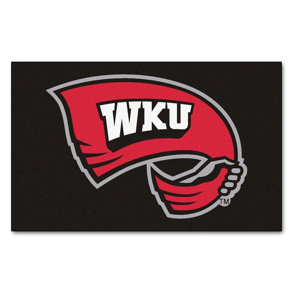 Fanmats Machine-Made Western Kentucky University Black Nylon Ulti-Mat (5' x 8')