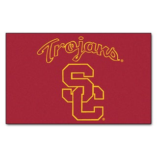 Fanmats Machine-Made University of Southern California Red Nylon Ulti-Mat (5' x 8')