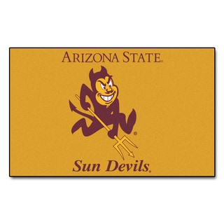 Fanmats Machine-Made Arizona State University Yellow Nylon Ulti-Mat (5' x 8')