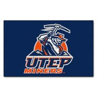 Fanmats Machine-Made UTEP Blue Nylon Ulti-Mat (5' x 8')