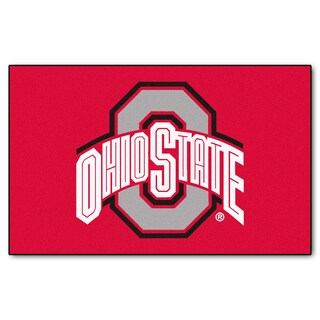 Fanmats Machine-Made Ohio State University Red Nylon Ulti-Mat (5' x 8')