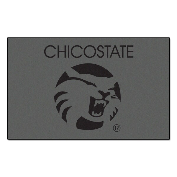 Fanmats Machine-Made Cal State - Chico Grey Nylon Ulti-Mat (5' x 8')