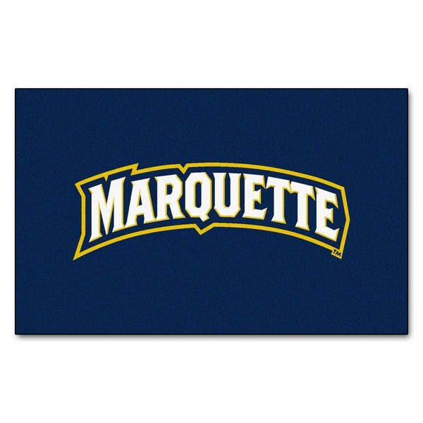 Fanmats Machine-Made Marquette University Blue Nylon Ulti-Mat (5' x 8')