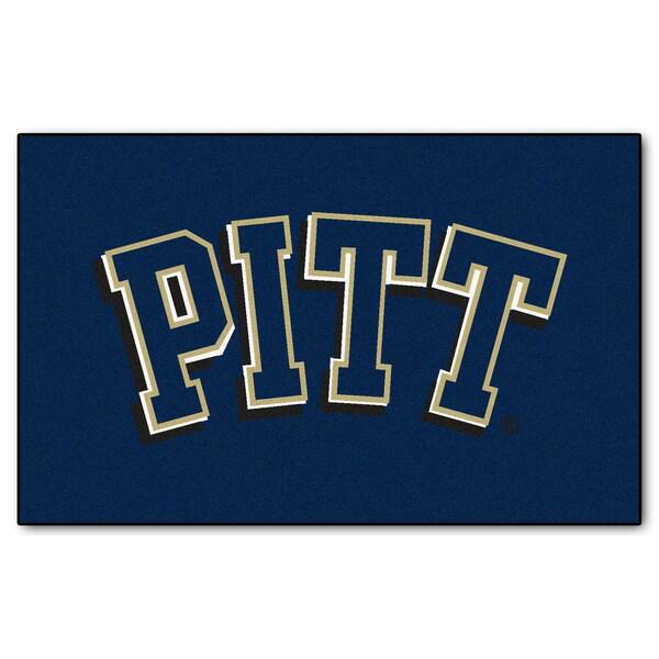 Fanmats Machine-Made University of Pittsburgh Blue Nylon Ulti-Mat (5' x 8')