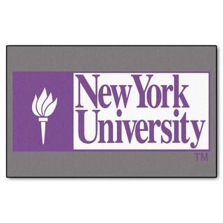 Fanmats Machine-Made NYU Grey Nylon Ulti-Mat (5' x 8')
