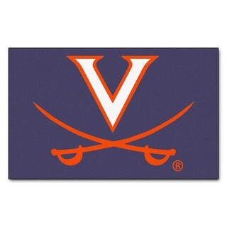 Fanmats Machine-Made University of Virginia Blue Nylon Ulti-Mat (5' x 8')