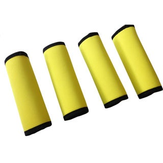 Super Grabber Bright Yellow 4-piece Neoprene Handle Wrap Grip Luggage Spotter Set