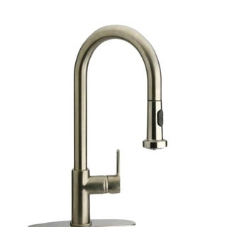 Starstar Brushed Nickel Single Handle Kitchen Faucet With Pull-down Spout