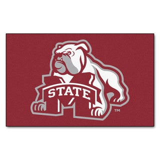 Fanmats Machine-Made Mississippi State University Red Nylon Ulti-Mat (5' x 8')