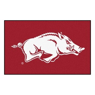 Fanmats Machine-Made University of Arkansas Black Nylon Ulti-Mat (5' x 8')