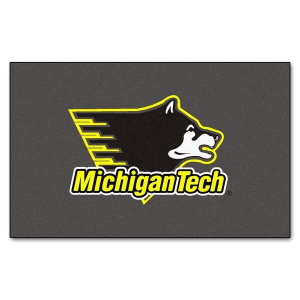 Fanmats Machine-Made Michigan Tech Grey Nylon Ulti-Mat (5' x 8')