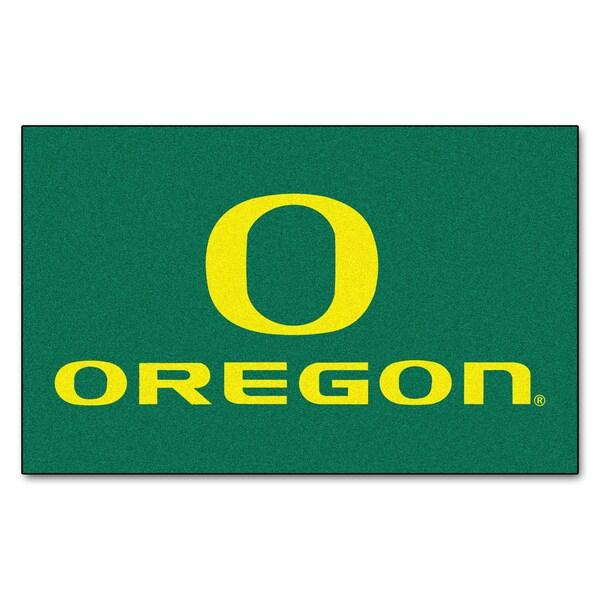Fanmats Machine-Made University of Oregon Green Nylon Ulti-Mat (5' x 8')