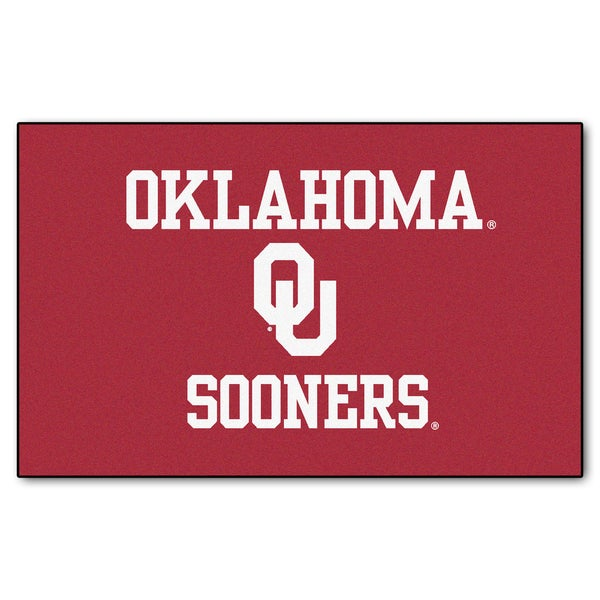 Fanmats Machine-Made University of Oklahoma Red Nylon Ulti-Mat (5' x 8')
