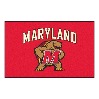 Fanmats Machine-Made University of Maryland Red Nylon Ulti-Mat (5' x 8')
