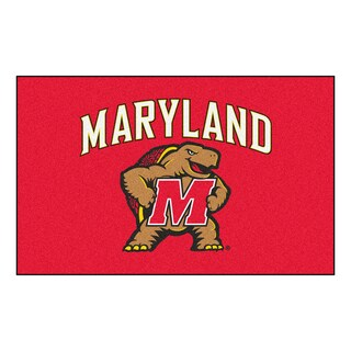 Fanmats Machine-Made University of Maryland Red Nylon Ulti-Mat (5' x 8')