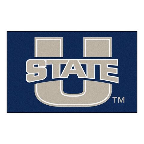 Fanmats Machine-Made Utah State University Blue Nylon Ulti-Mat (5' x 8')
