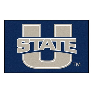 Fanmats Machine-Made Utah State University Blue Nylon Ulti-Mat (5' x 8')
