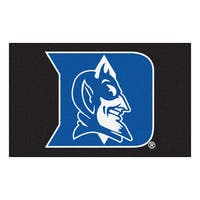 Fanmats Machine-Made Duke University Black Nylon Ulti-Mat (5' x 8')