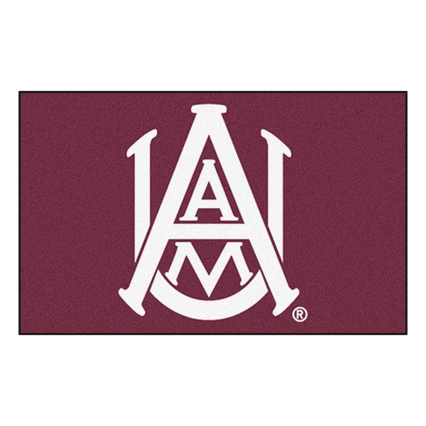 Fanmats Machine-Made Alabama A&M University Burgundy Nylon Ulti-Mat (5' x 8')