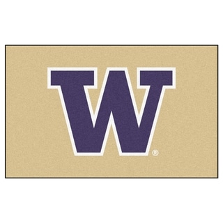 Fanmats Machine-Made University of Washington Tan Nylon Ulti-Mat (5' x 8')