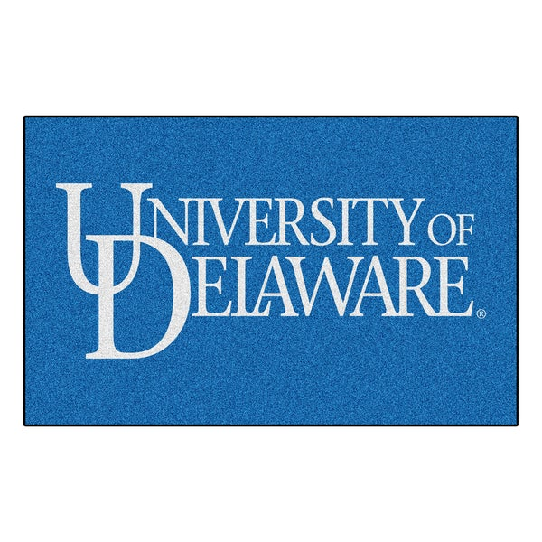 Fanmats Machine-Made University of Delaware Blue Nylon Ulti-Mat (5' x 8')