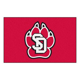 Shop Fanmats Machine Made University Of South Dakota Red