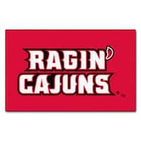 Fanmats Machine-Made Louisiana - Lafayette Red Nylon Ulti-Mat (5' x 8')