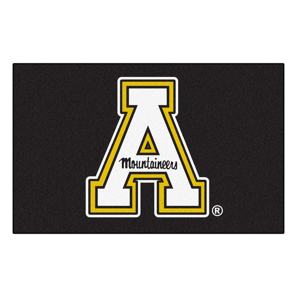 Fanmats Machine-Made Appalachian State Black Nylon Ulti-Mat (5' x 8')
