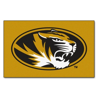 Fanmats Machine-Made University of Missouri Gold Nylon Ulti-Mat (5' x 8')