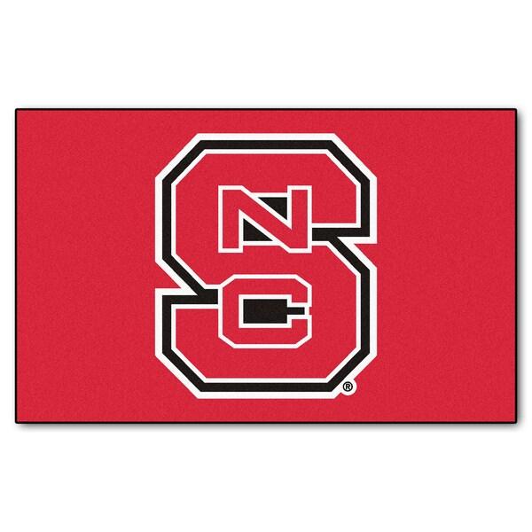 Fanmats Machine-Made North Carolina State Red Nylon Ulti-Mat (5' x 8')
