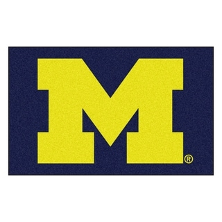 Fanmats Machine-Made University of Michigan Blue Nylon Ulti-Mat (5' x 8')