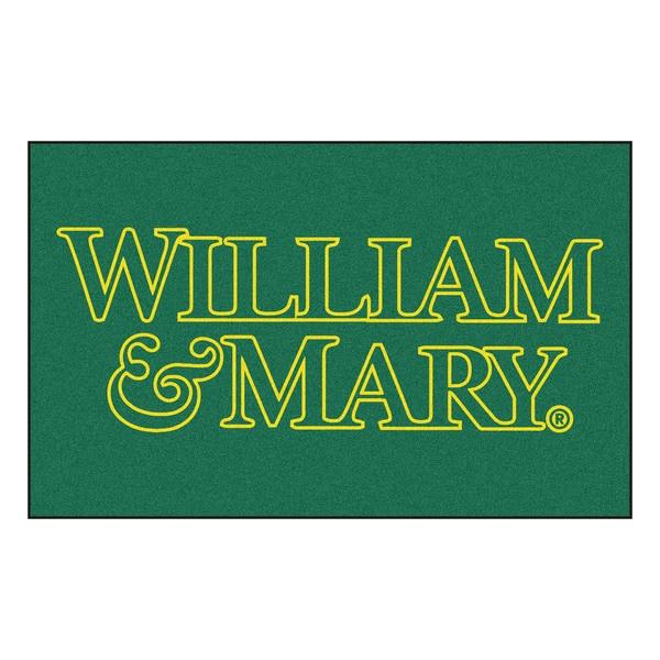Fanmats Machine-Made College of William & Mary Green Nylon Ulti-Mat (5' x 8')