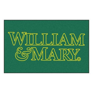 Fanmats Machine-Made College of William & Mary Green Nylon Ulti-Mat (5' x 8')