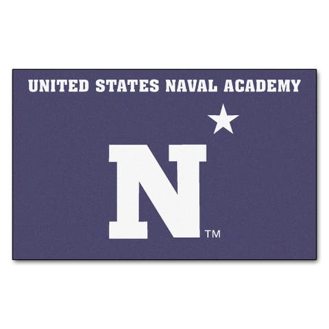 Fanmats Machine-Made US Naval Academy Blue Nylon Ulti-Mat (5' x 8')