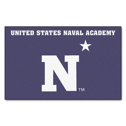 Fanmats Machine-Made US Naval Academy Blue Nylon Ulti-Mat (5' x 8')