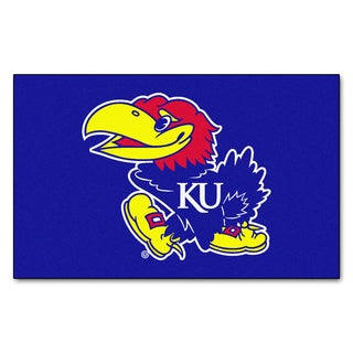 Fanmats Machine-Made University of Kansas Blue Nylon Ulti-Mat (5' x 8')