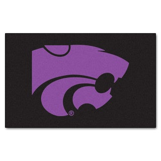 Fanmats Machine-Made Kansas State University Black Nylon Ulti-Mat (5' x 8')