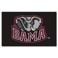 Fanmats Machine-Made University of Alabama Black Nylon Ulti-Mat (5' x 8')