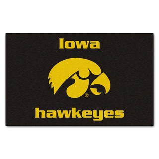 Fanmats Machine-Made University of Iowa Black Nylon Ulti-Mat (5' x 8')
