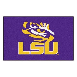 Fanmats Machine-Made Louisiana State University Purple Nylon Ulti-Mat (5' x 8')