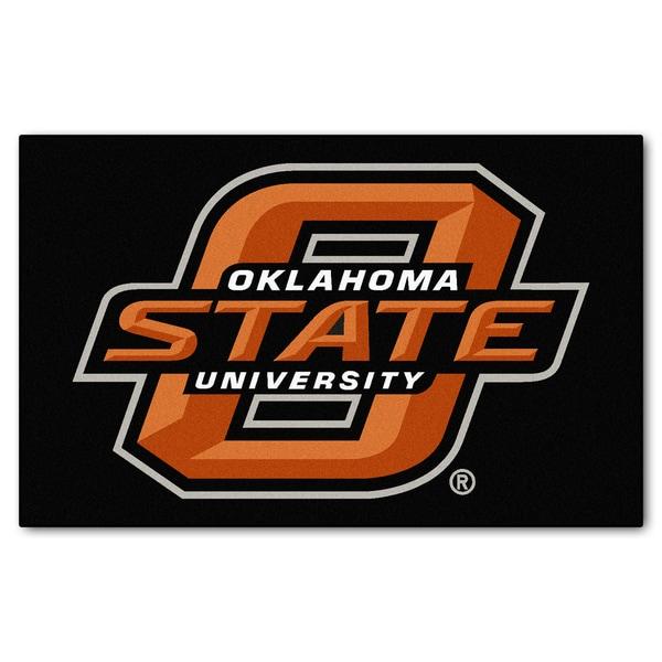 Fanmats Machine-Made Oklahoma State University Black Nylon Ulti-Mat (5' x 8')