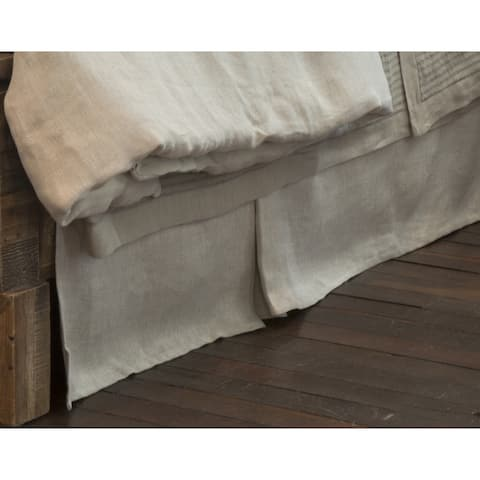 Radley Herringbone Linen 18-inch Drop 3 Piece Tuck in Bed Skirt