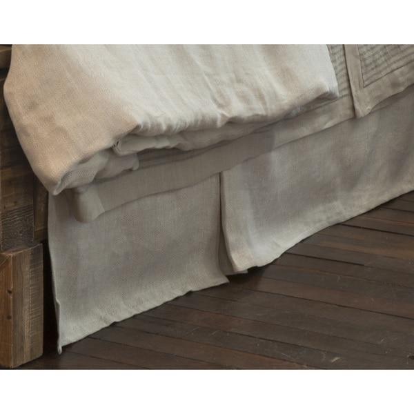 Radley Herringbone Pattern Linen Bed Skirt