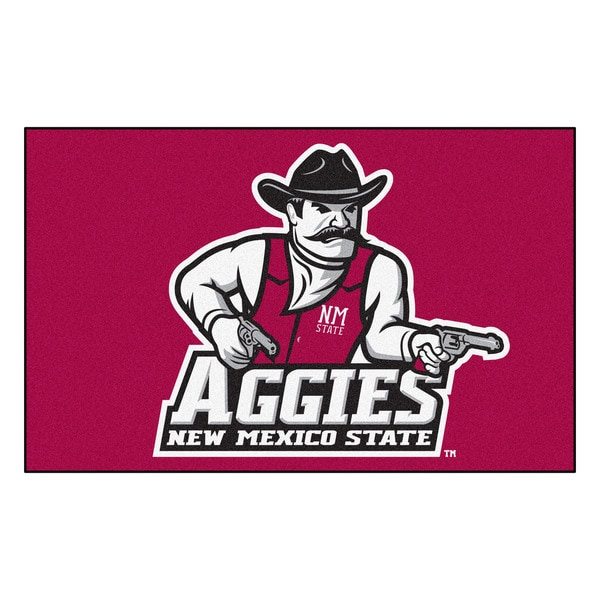 Fanmats Machine-Made New Mexico State University Red Nylon Ulti-Mat (5' x 8')