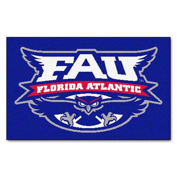 Fanmats Machine-Made Florida Atlantic University Blue Nylon Ulti-Mat (5' x 8')