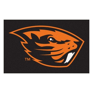 Fanmats Machine-Made Oregon State University Black Nylon Ulti-Mat (5' x 8')