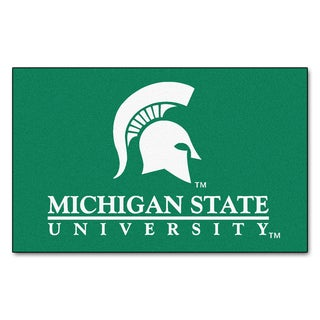Fanmats Machine-Made Michigan State University Green Nylon Ulti-Mat (5' x 8')